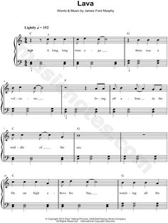 """Lava"" from 'Lava (Pixar Short)' Sheet Music (Easy Piano) - Download & Print"
