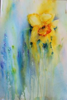 Art by Judith Farnworth: Brusho Paintings Watercolor Paintings For Beginners, Watercolor Pictures, Watercolor Artwork, Watercolor Print, Watercolor Portraits, Watercolor Landscape, Abstract Flowers, Watercolor Flowers, Flower Paintings