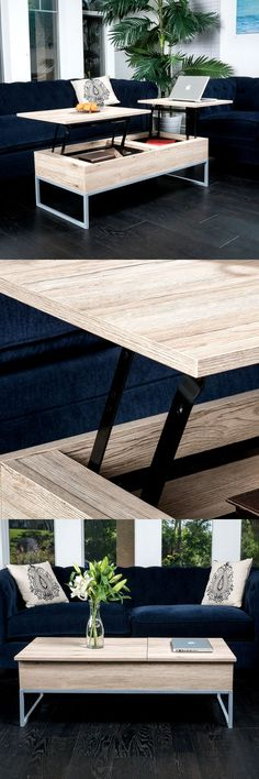 Take your coffee table to a higher level and Cerise will do just that for you. Check it out==> http://gwyl.io/cerise-sandy-brown-wood-lift-top-storage-coffee-table/ | Cerise Sandy Brown Wood Lift Top Storage Coffee Table