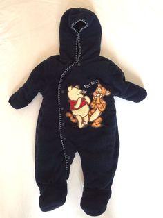 ecca65d44 Disney Infant Snowsuit Winnie the Pooh Tigger Blue 0-3 Month Snap Closure  Hood