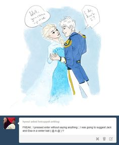 Jack and Elsa. Frost King and Snow Queen of Winter.