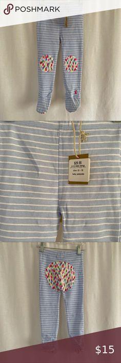 Girls H/&M Blue Floral Pattern Crisp Cotton Trousers Age 11-12 Elasticated Waist