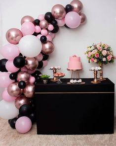 16th Birthday Decorations, Dyi Decorations, Balloon Decorations, Sweet 16 Birthday, Baby Birthday, Birthday Parties, Deco Baby Shower, Baby Shower Themes, Deco Buffet