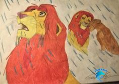 The lion king My Drawings, Rooster, Lion, Painting, Animals, Art, Leo, Animais, Craft Art
