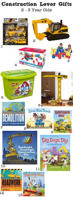 This list is full of the best gifts for construction loving kids. Birthday and christmas shopping will be a cinch with these building, smashing, digging construction books and toys.