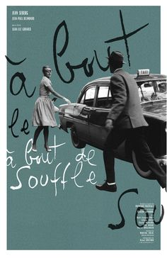 Breathless / Jean Luc Godard. poster by Adam Juresko. via Randomitus #poster #films