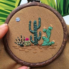 Grand Sewing Embroidery Designs At Home Ideas. Beauteous Finished Sewing Embroidery Designs At Home Ideas. Cactus Embroidery, Hand Embroidery Stitches, Silk Ribbon Embroidery, Embroidery Hoop Art, Hand Embroidery Designs, Embroidery Techniques, Beginner Embroidery, Embroidery Sampler, Machine Embroidery