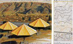 """Christo+J-C  """"A joint project between Japan and the USA.""""  These umbrellas were very close to Bakersfield."""