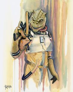 Star Wars Bossk by Brian Rood