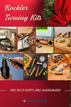 We believe the best gifts are handmade--and it's not too late to make them! Get one of our turning kits here and blow your loved ones away with gorgeous DIY gifts this holiday season.  #createwithconfidence #turning #latheprojects #turningkit #handmadegift Lathe Projects, Wood Turning Projects, Beginner Woodworking Projects, Diy Gifts, Best Gifts, Handmade Gifts, Lathe Tools, Rockler Woodworking, Wood Working For Beginners
