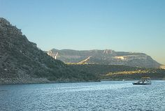 Boating and Fishing at Lake Pleasant North of Phoenix, AZ.