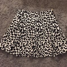 Collective Concepts Leopard Print Skirt Black and white, flared hem.  Nordstrom Brand. New condition. Collective Concepts Skirts Mini