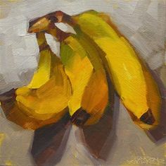 "Daily Paintworks - ""Nanners"" - Original Fine Art for Sale - © Karen Werner"