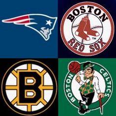 My favorite sports team in each of the four major sports.  I've grown up around Boston sports so I just began rooting for them with my family.