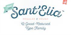 Beautifull! love it, Sant'Elia font | Fontfabric™