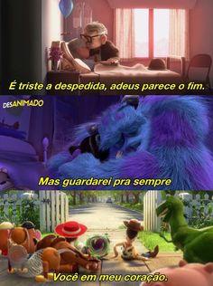 Isso foi um tiro no meu coração,alma,mente,corpo, ... Disney And Dreamworks, Disney Pixar, Nostalgia, L Quotes, Sad Day, Sad Girl, Disney Quotes, Cute Disney, Series Movies