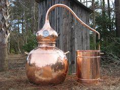 Copper Moonshine Still, 10 Gallon - Pot Still, Alcohol & Whiskey Still