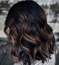 Modern Balayage Dark Hair Color Ideas for Women in 2020 We can be unable to Dark Brunette Balayage Hair, Dark Balayage, Hair Color Balayage, Balayage Brunette Long, Medium Brunette Hair, Hair Color And Cut, Hair Color Dark, Hair Color Ideas For Dark Hair, Ombre For Dark Hair