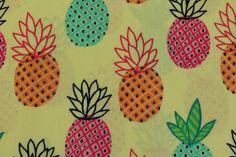 Pineapples Katoen - Timeless Treasures - De Stoffenstraat | De Stoffenstraat