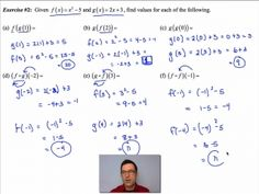In this lesson, we see how to use outputs of one function as inputs to another. Function Composition, Common Core Algebra, Math, Musical Composition, Math Resources, Early Math, Mathematics