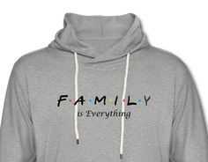 FAMILY IS EVERYTHING Lightweight Hoodie - heather gray / M