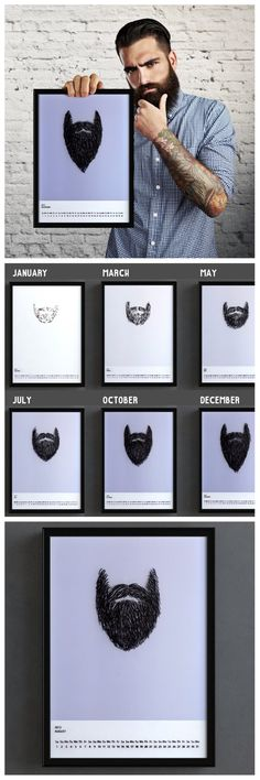 Bearded Calendar Grows With You as the Year Progresses