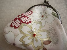 Sakura yuzen paint coin purse by WAYOKO on Etsy, $26.00