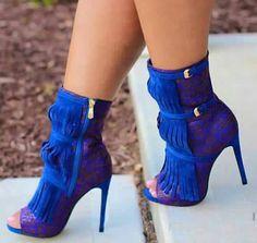 Royal Blue Bootie Heels