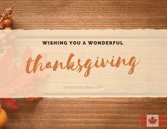 Hope everyone has a wonderful Thanksgiving weekend!