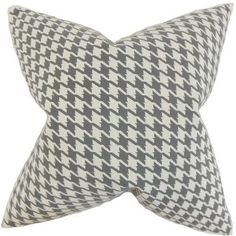 The Pillow Collection Presley Houndstooth Throw Pillow Color: