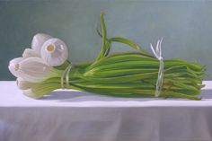 Onions tied 2004 Oil on canvas 18 x 24 in
