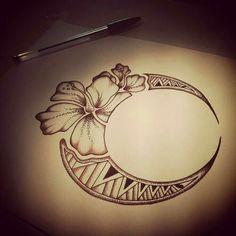 Resultado de imagen para flower moon tattoo