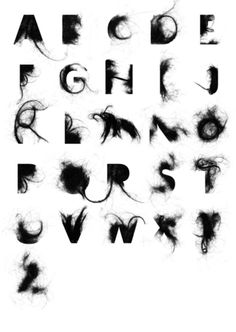 The hairy typography from Craig Ward