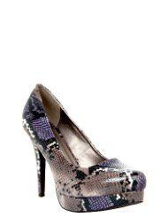 Torrid Grey and Purple Snakeskin Heels