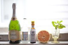 Grapefruit Mint Fizz + The Perfect Bar Cart Aromatic Bitters, Cocktail Photography, Bar Cart Styling, Gin Fizz, Champagne Cocktail, Tonic Water, Grapefruit Juice, Summer Cocktails, Fun Drinks
