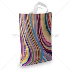 Loop Handle Seventies Design Plastic Carrier Bags