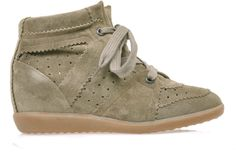 Isabel Marant Bobby suede hidden wedge trainers on shopstyle.com