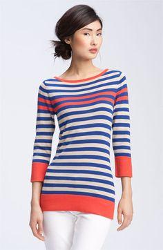 Trina Turk 'St. Kilda' Nautical Stripe Sweater - loe this simple striped top