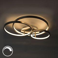 LED and dimmer Rondas-Modern ceiling lamp steel incl. LED and dimmer Rondas - Modern Led Ceiling Lights, Ceiling Light Fixtures, Ceiling Lamp, Modern Lighting, Led Chandelier, Modern Chandelier, Led Flexible, Led 12v, Deco Led