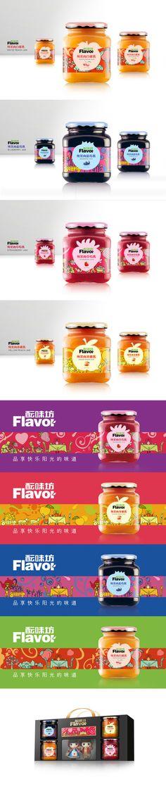壹峰品牌酝味坊的果酱系列产品@七言设计采集到包装(713图)_花瓣平面设计