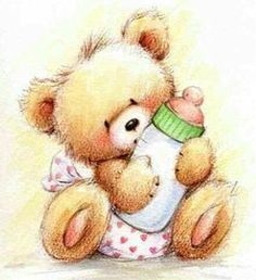 Florynda del Sol ღ☀¨✿ ¸.ღ Anche gli Orsetti hanno un'anima…♥ Tatty Teddy, Teddy Bear Images, Hello Kitty Plush, Congratulations Baby, Creation Photo, Bear Illustration, Baby Images, Clay Baby, Country Paintings