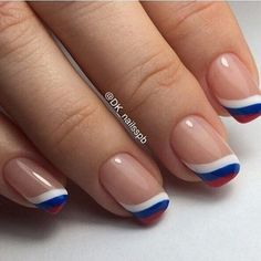Идеи маникюра #redwhiteandblue #nails