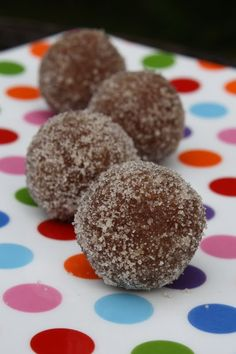 Donut Holes - Getting more into raw foods, with some slightly unusual ingredients.