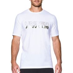 Under Armour Men's Wordmark Graphic T-Shirt, Size: XL, White