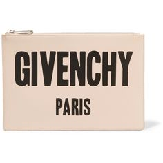 Givenchy Givenchy - Printed Leather Pouch - Blush (€410) ❤ liked on Polyvore featuring bags, handbags, genuine leather handbags, tote purses, handbags totes, leather tote handbags and leather tote