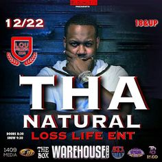 Tha Natural: Tha Natural set to perform tonight at The Warehous...
