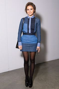 Miroslava Duma is becoming one of my favourites in terms of style icons....she made this patchwork denim look effortless, cool and classy! Patchwork denim can be tricky and if it's not styled properly- it comes off as tacky.