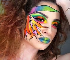 GORGEOUS look by @gingermeatmua with these TROPICAL FLOWERS VIBES  Using our Intergalactic palette   #tropicalmakeup #tropicalfacepaint #birdsofparadise #birdsofparadiseflower #exoticmakeup #birdsofparadiseplant #colorfulmakeup #colorfulfacepainting #marioncameleon #mua #makeupenthusiast #muasupport #muaunder10k #muadiscover #creativemakeup #artisticmakeup #facepaint #cutcrease #facepainting #flowermakeup #flowerfacepaint #makeupaddict #makeupporn #makeupgirl #redhair #redhaircolor # # # # Tropical Makeup, Colorful Makeup, Exotic Makeup, Birds Of Paradise Plant, Flower Makeup, Amazing Makeup, Red Hair Color, Creative Makeup, Girls Makeup