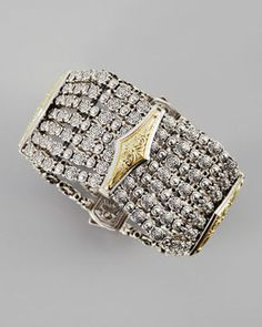 shopstyle.com: Konstantino 18k Gold & Sterling Silver 7-Row Cuff