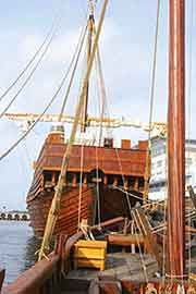Medieval ships at the Koggmuseet (Cog Museum)